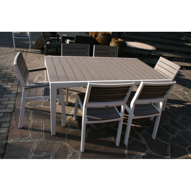 Tavoli Per Esterno In Resina.Cs0760 Set In Resina Pallantestore Set Pranzo Harmony In