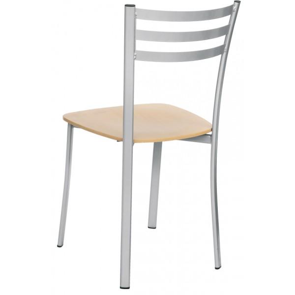 pal-00091 - sedie - pallantestore - sedia in metallo e legno mod ... - Sedie In Metallo Da Cucina