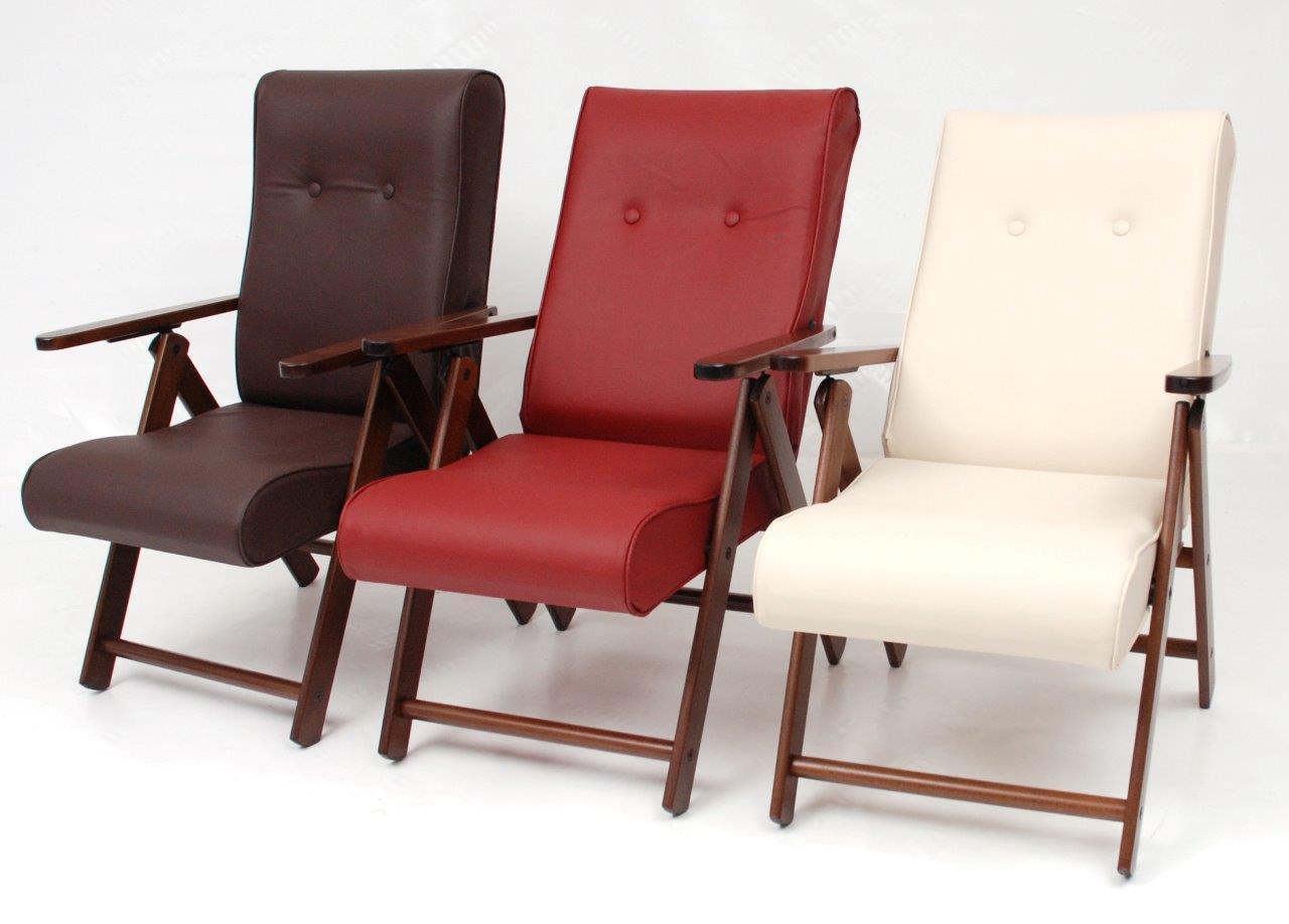 Poltrona Reclinabile Manuale.Poltrona Relax Reclinabile Giglio Manuale Vari Colori In Ecopelle 63x76xh105 Cm