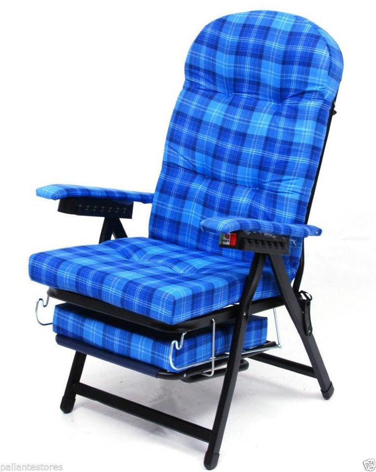 Poltrona A Sdraio Design.Sedia Poltrona Sdraio Mod Karina Cotone Schienale Regolabile Con Piedino 35x20mm