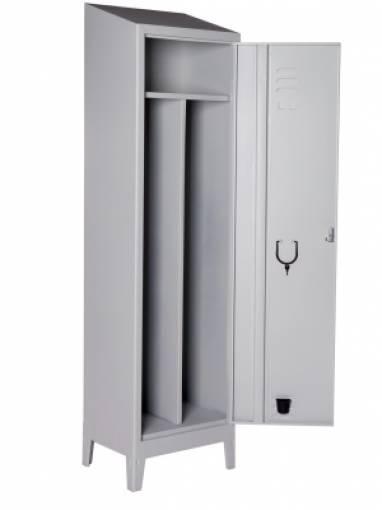 Armadio metallo spogliatoio 101x33x180 cm 3 a porte