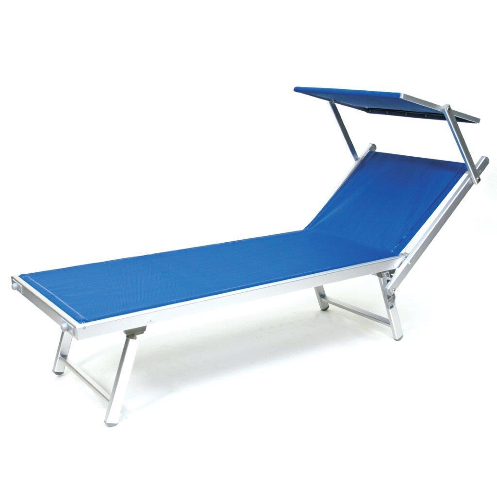 Lettini Da Spiaggia Alluminio.Dettagli Su Lettini Alluminio Offerta 2 Sdraio Parasole Mare Giardino Piscina Prendisole