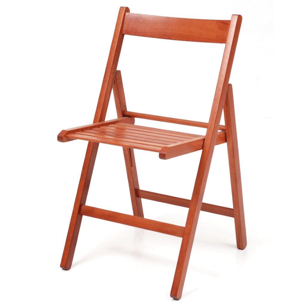 Offerta 4x sedia in legno di faggio pieghevole di colore ciliegio ...