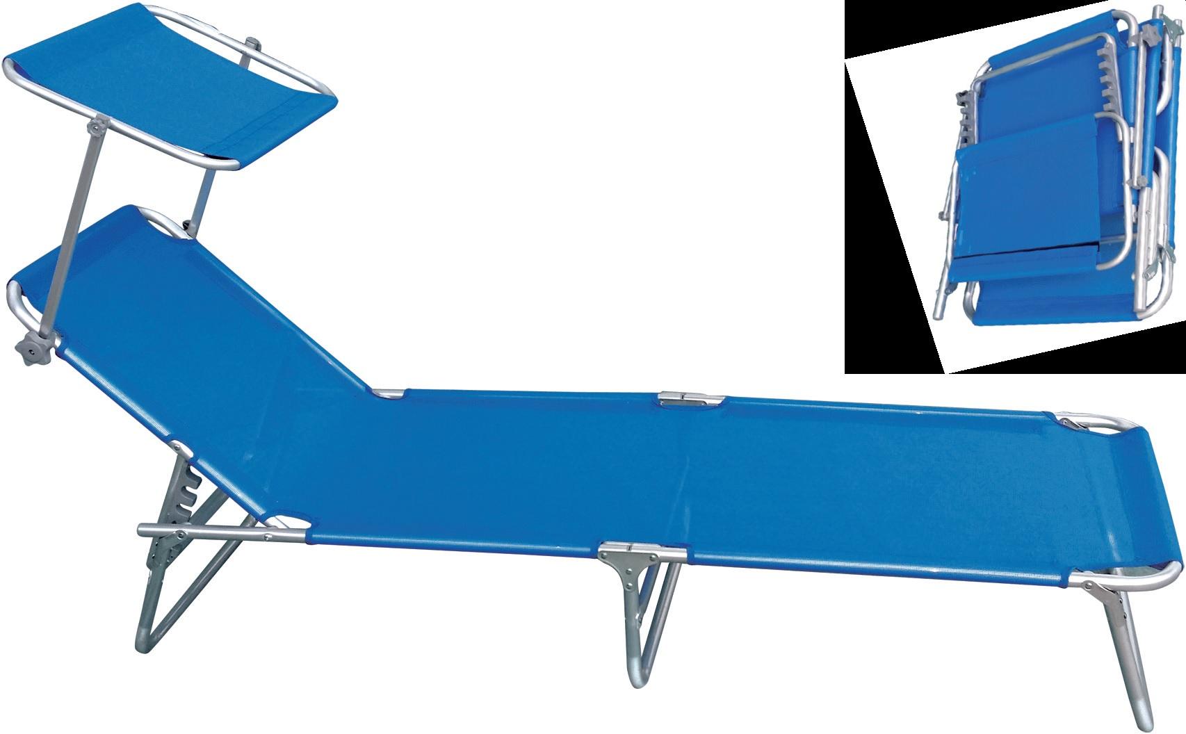 Sdraio Da Spiaggia Prezzi.Lettino Mod Gaeta In Alluminio Pieghevole Sdraio 190x55x30h Cm