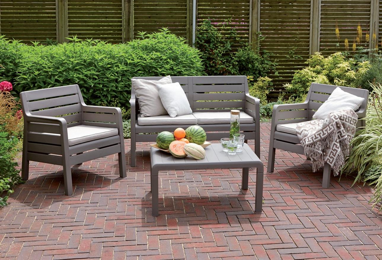 Set da giardino 2 posti colore antracite della keter for Divani arredo giardino
