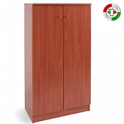 Scarpiera mobile Gabriella melamminico armadio L 71x130 P 38 CM kit CILIEGIO