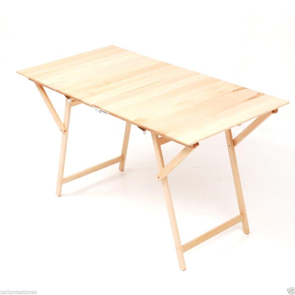 Tavolo pic nic rettangolare pieghevole in legno colore faggio 140x70 cm ebay - Tavolo pic nic decathlon ...
