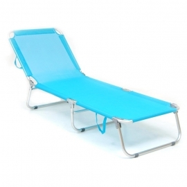 Lettini Da Spiaggia Alluminio.Brandina Tahiti Pieghevole Struttura Alluminio Anodizzato Tubolare 22mm Blu