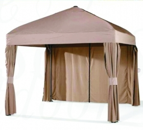 GAZEBO PLATINUM 3,5x3,5 Ecru in alluminio colore marrone telo 250 gr antivento