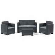 Set Sofa composto divanetto 2 PT 2 poltrone tavolino M0370-03