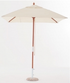 Ombrellone in legno mod. Cancun diametro 3x3 mt telo ecru diametro 48 mm