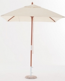 Ombrellone in legno mod. Cancun diametro 2,5 mt telo ecru diametro 48 mm