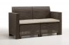 Bica 9067.3 Set Nebraska Salottino 4 Posti, Marrone, 119 x 74 x 57 cm
